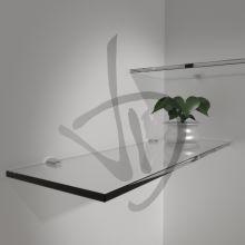Étagères en verre transparent, sur mesure