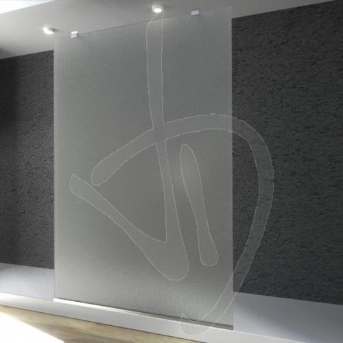 wand-befestigt-dusche-besonders-angefertigt-milchglas