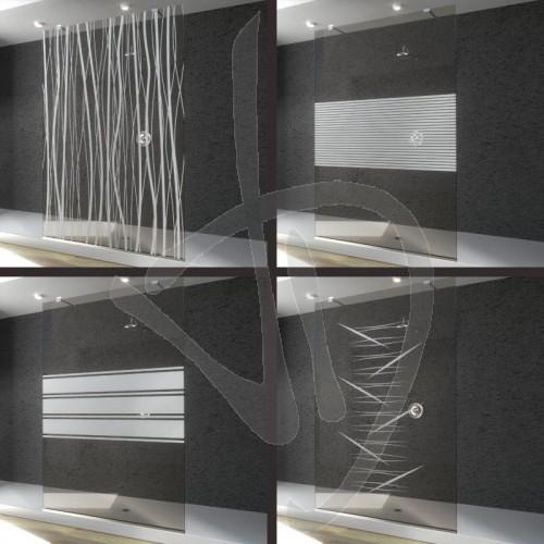 wand-befestigt-dusche-gewohnheit-brueniert-glas-verziert