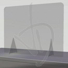Barriera parafiato in Plexiglass Trasparente su misura, senza passacarte