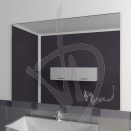Specchio per bagno, con decoro A026