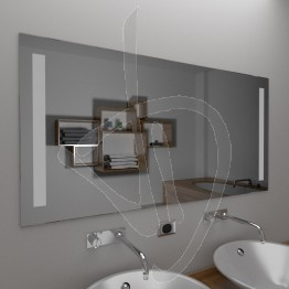 Specchio moderno, con decoro B012