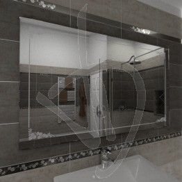 Specchio per bagno, con decoro B007