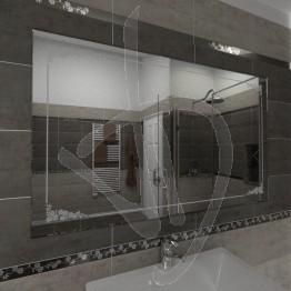 Specchio da bagno, con decoro B007