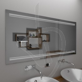 Specchio da bagno, con decoro B019