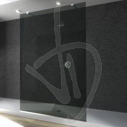 Parete doccia fissa, su misura, in vetro grigio Europa