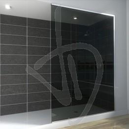 Vetro doccia nicchia, su misura, in vetro grigio Europa
