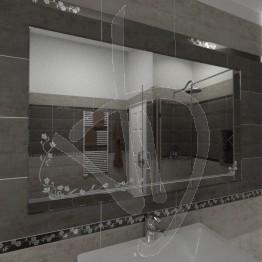Specchio parete, con decoro C020