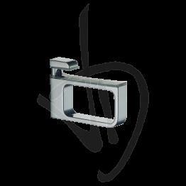 Reggimensola per carichi medi, Misure H61/81xP100 mm, Spessore vetro 4-24 mm