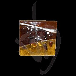 Orologio da tavolo in vetro di Murano, realizzato a mano