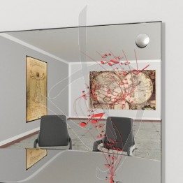 spiegelwand-mit-nieten-und-dekoration-a026