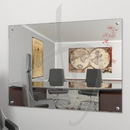 Specchio parete, con borchie e decoro A026