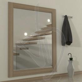 Specchio su misura, con cornice in legno massello in rovere naturale