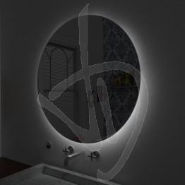 Specchio tondo retroilluminato, su misura