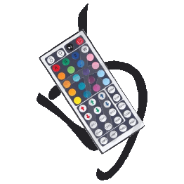 Telecomando da 44 tasti, per LED Multicolor