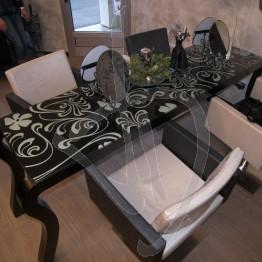 Vetro per scrivania o vetro per tavolo, decorato e su misura