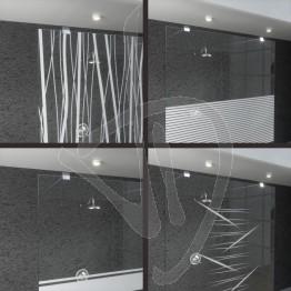 wand-befestigt-dusche-zugeschnitten-in-dekoriert-transparentem-glas