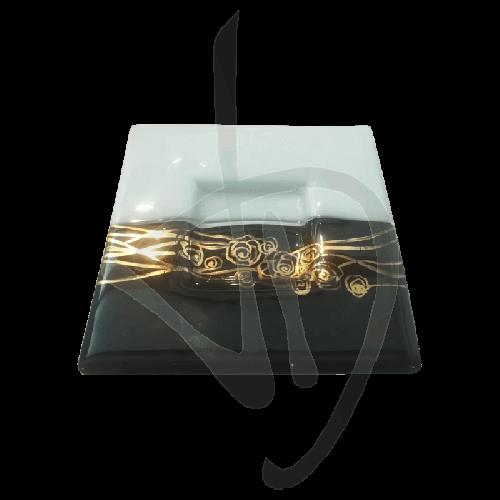 centre-de-table-en-verre-de-murano-noir-et-blanc-avec-decor-dore-fait-main