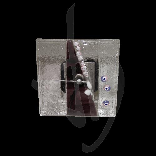 horloge-de-table-en-verre-de-murano-violet-fonce-fait-main