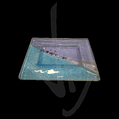 porte-savon-en-verre-de-murano-violet-et-bleu-clair-fait-main