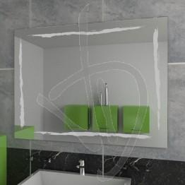 Specchio bagno, con decoro A036