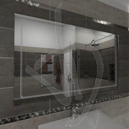 Specchio grande, con decoro B011