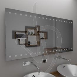 Specchio da parete, con decoro B014