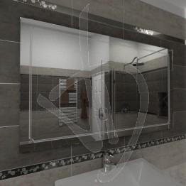 Specchio design, con decoro B009