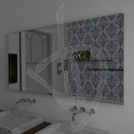 Specchio grande da parete, con decoro B024