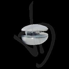 Reggimensola per carichi leggeri, Misure 24xP25mm, Spessore vetro 5-10 mm