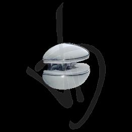 Reggimensola per carichi leggeri, Misure 28/33xP20mm, Spessore vetro 5-10 mm