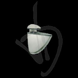Reggimensola per carichi medi, Misure 75xP66mm, Spessore vetro 2-20 mm