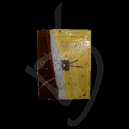 Orologio da parete in vetro di Murano, tonalità bronzo, realizzato a mano