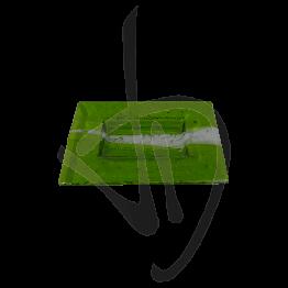 Portasapone in vetro di Murano, tonalità verde, realizzato a mano