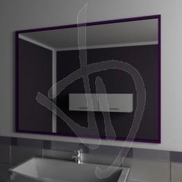 Specchio con cornice in alluminio, su misura