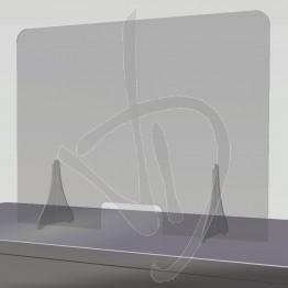 Pannello divisorio parafiato in Plexiglass Trasparente su misura, con passacarte