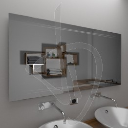 Specchio su misura, da appendere, con decoro A024