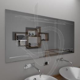 Specchio design, con decoro A033