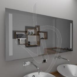 Specchio bagno design, con decoro B012