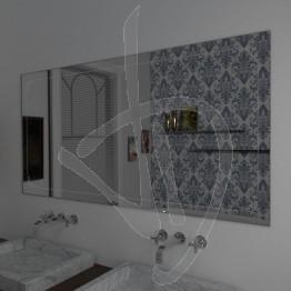 Specchio da parete, con decoro XXX