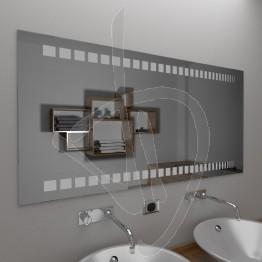 Specchio grande da parete, con decoro B017