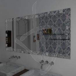 Specchio da parete, con decoro B026