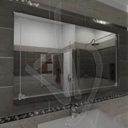 Specchio bagno, con decoro B001