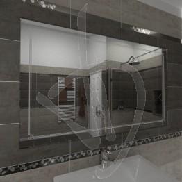 Specchio grande da parete, con decoro B009