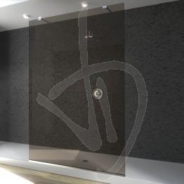 Parete doccia fissa, su misura, in vetro bronzato
