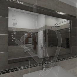 Specchio senza cornice, con decoro C021