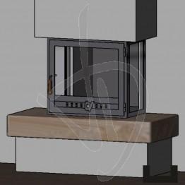 Struttura Angolare in ferro (angolo 90° sx e 90° dx)