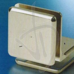 """Morsetto in ottone a """"L"""" , vetro-vetro, 40x40mm"""