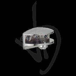Reggimensola per carichi leggeri, Misure 25xP25mm, Spessore vetro 6-11 mm