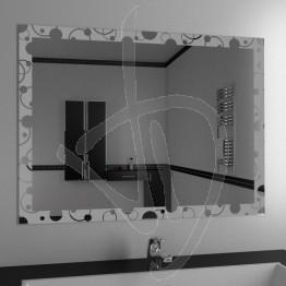 Specchio bagno, con decoro A030